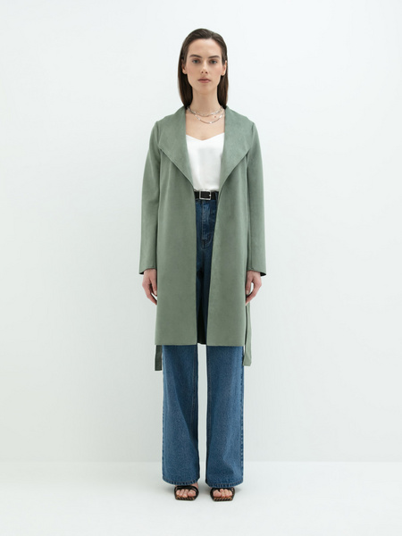 Пальто на поясе - фото 9