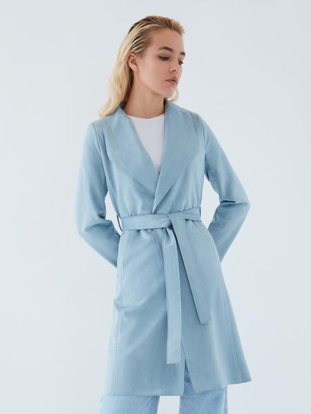 Пальто на поясе - фото 1