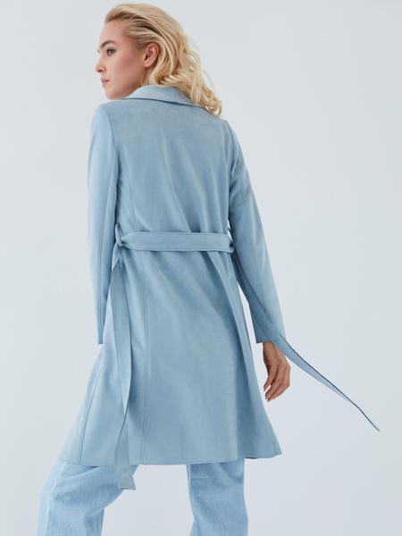 Пальто на поясе - фото 11