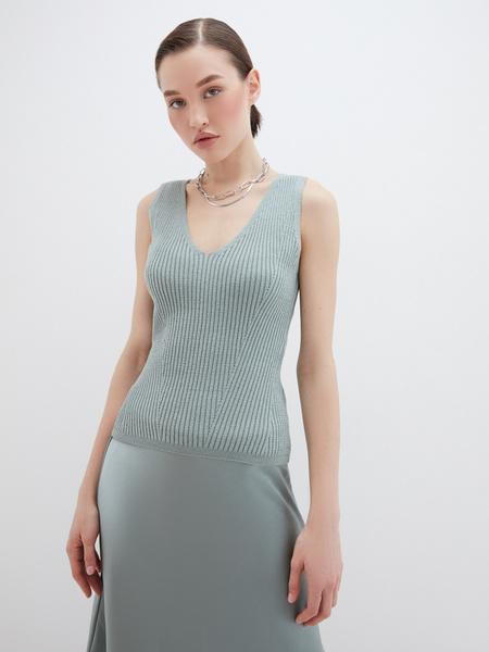 Блузка в рубчик