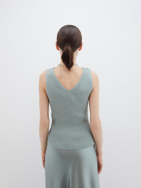 Блузка в рубчик - фото 6