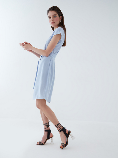 Платье изо льна - фото 10