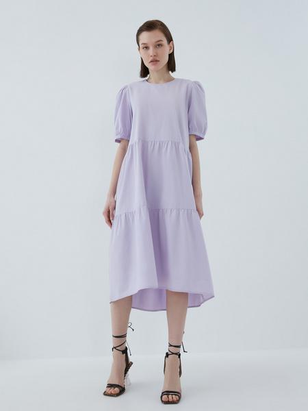 Платье с воланами - фото 8