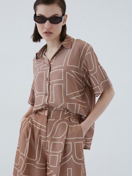 Блузка с принтом - фото 12