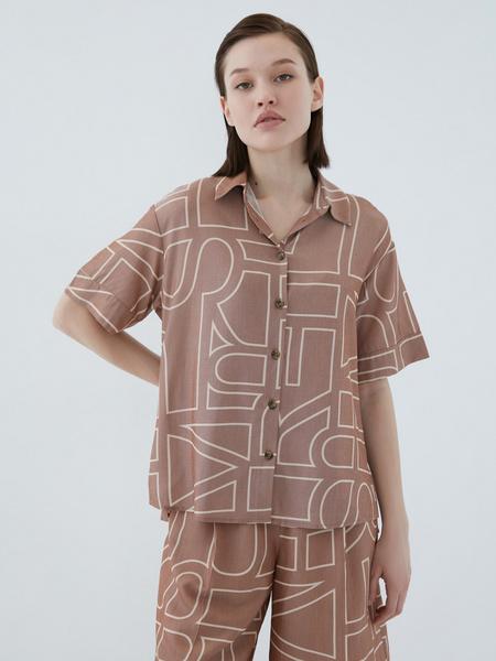 Блузка с принтом - фото 9
