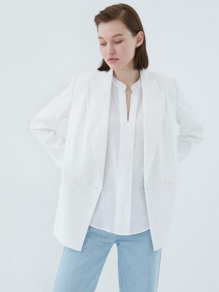 Блузка с ажурной вставкой - фото 10