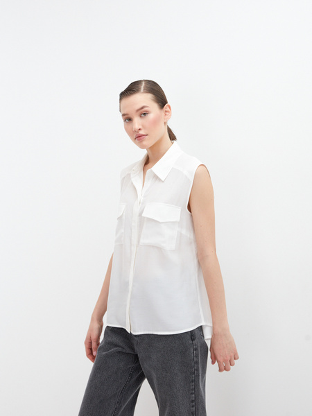 Блузка без рукавов - фото 4