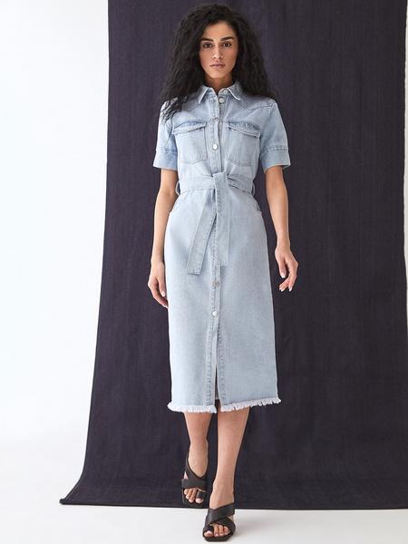 Джинсовое платье - фото 1