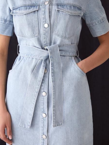 Джинсовое платье - фото 5