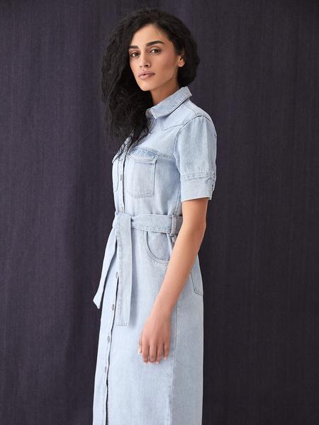 Джинсовое платье - фото 6