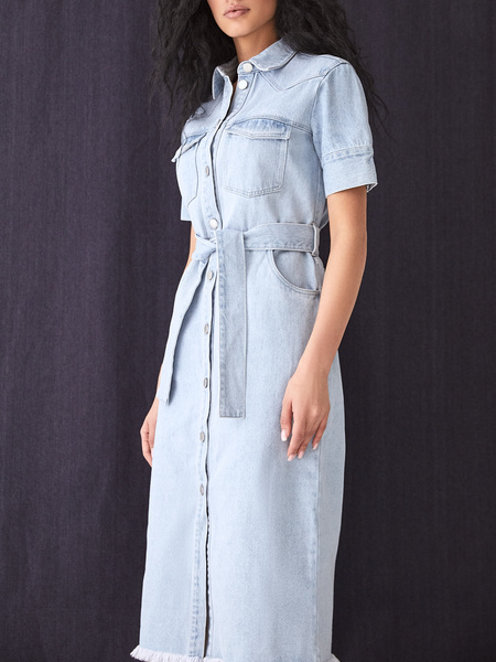 Джинсовое платье - фото 8