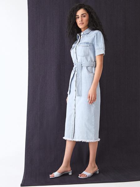 Джинсовое платье - фото 9