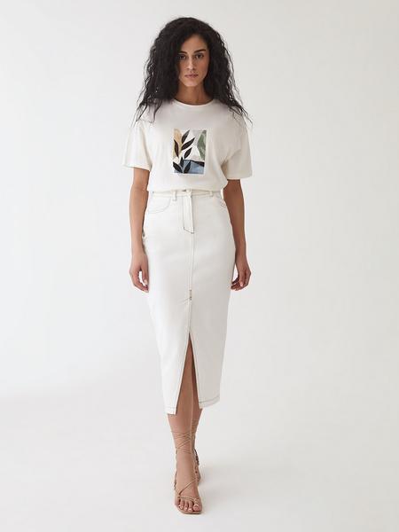 Джинсовая юбка - фото 12