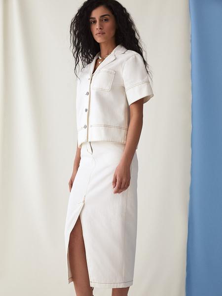 Джинсовая юбка - фото 8