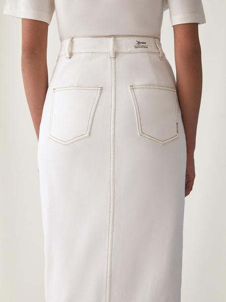 Джинсовая юбка - фото 9