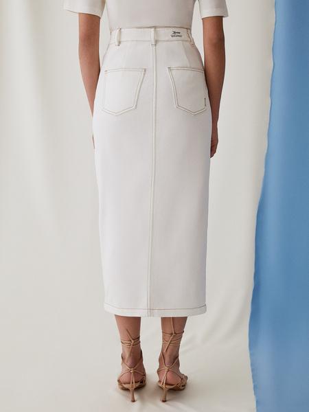 Джинсовая юбка - фото 10