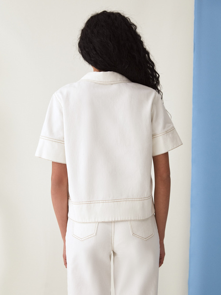 Джинсовая рубашка - фото 11
