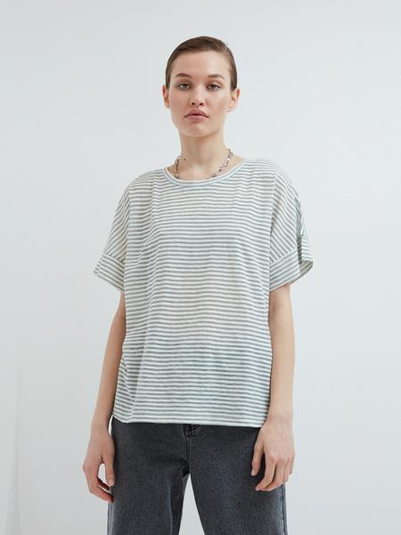 Полосатая футболка - фото 5