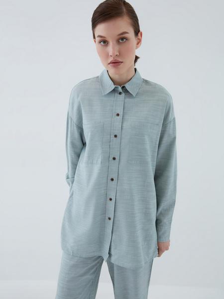 Рубашка из вискозы - фото 8