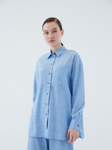 Рубашка из вискозы - фото 3