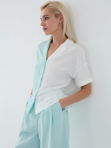 Комбинированная блузка - фото 1
