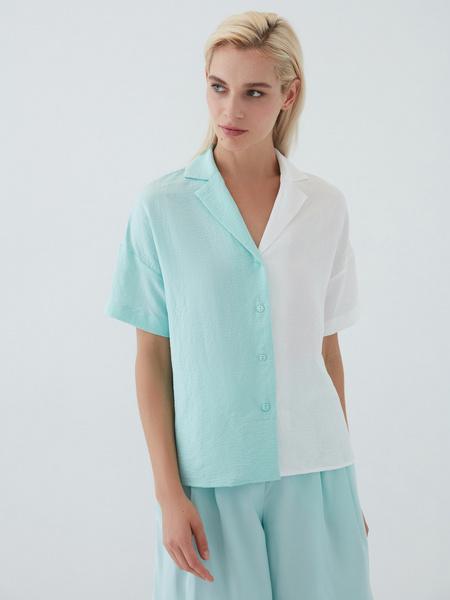Комбинированная блузка - фото 2