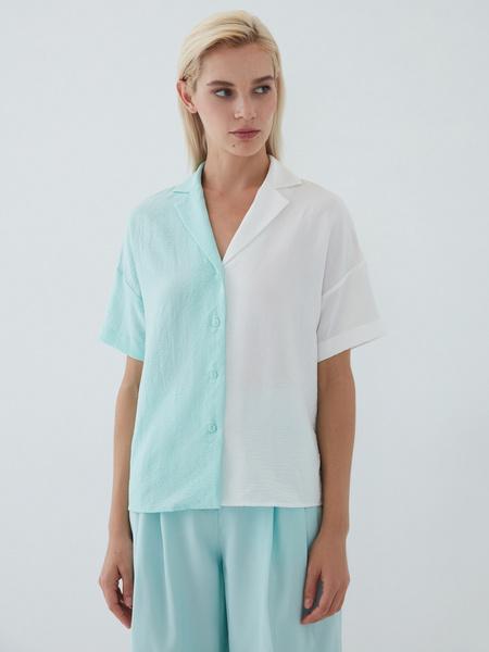 Комбинированная блузка - фото 7