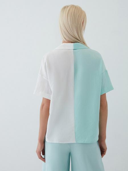 Комбинированная блузка - фото 8