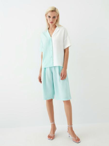 Комбинированная блузка - фото 9