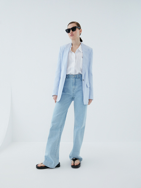 Блузка с карманом - фото 6