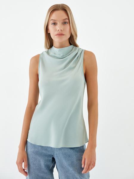 Блузка с драпировкой - фото 3