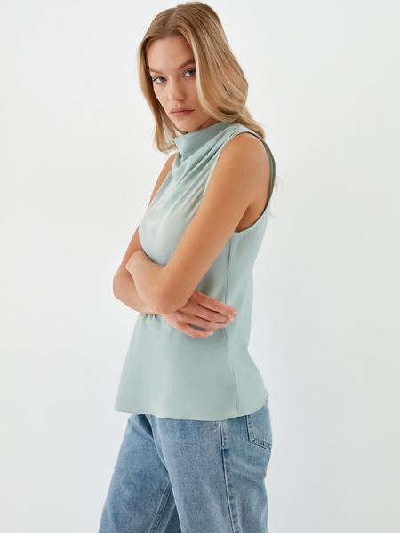Блузка с драпировкой - фото 5