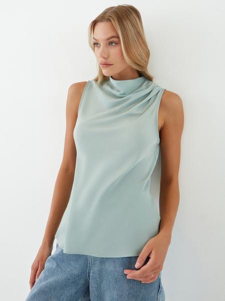 Блузка с драпировкой - фото 6