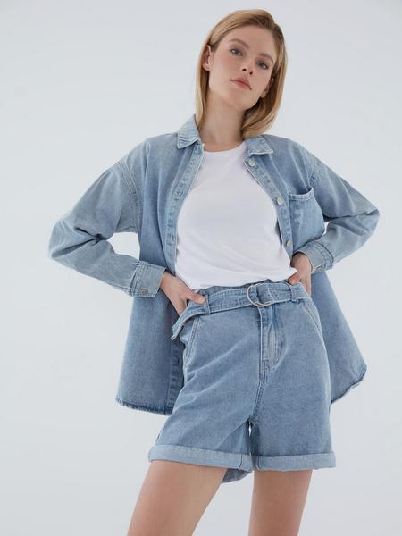 Джинсовые шорты - фото 1