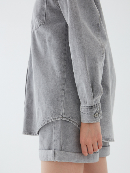 Джинсовая рубашка - фото 12