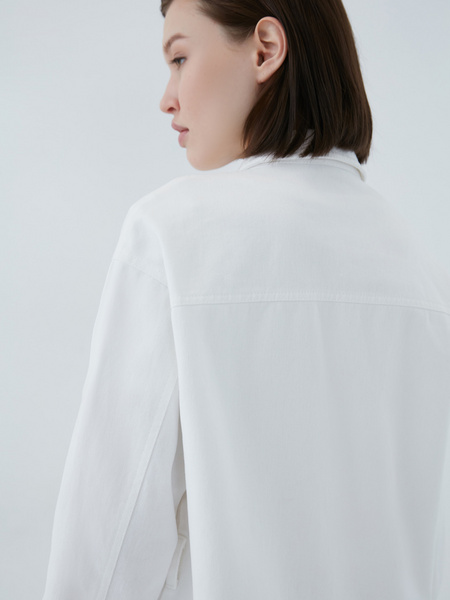 Джинсовая рубашка - фото 14