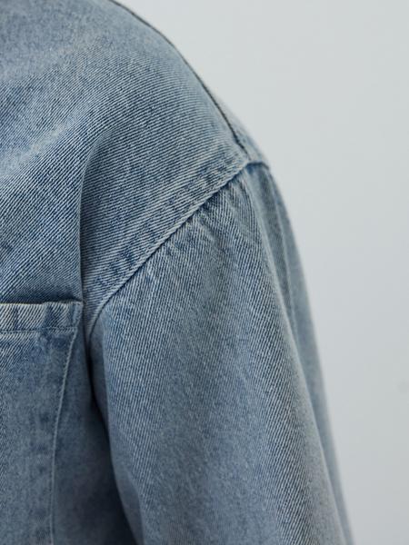 Джинсовая рубашка - фото 7
