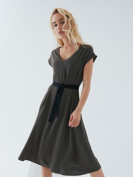 Платье с поясом - фото 11