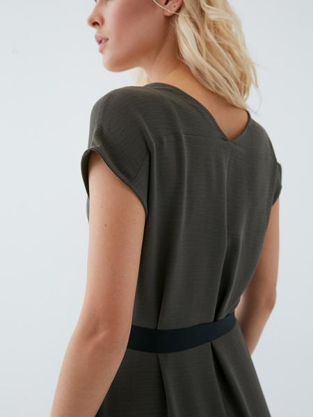 Платье с поясом - фото 13