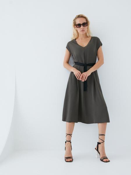 Платье с поясом - фото 15