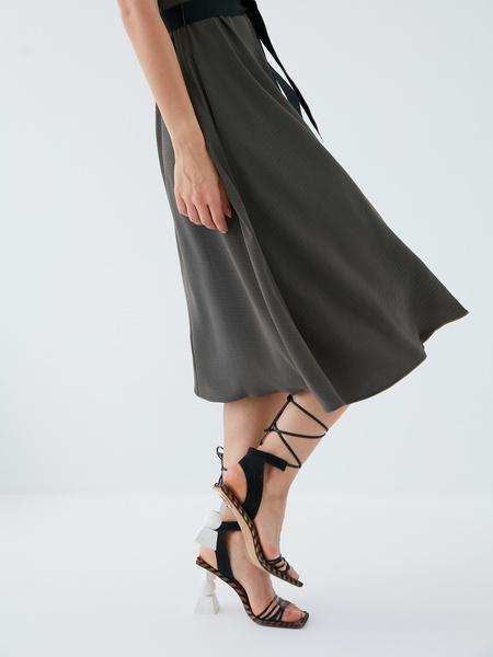 Платье с поясом - фото 7