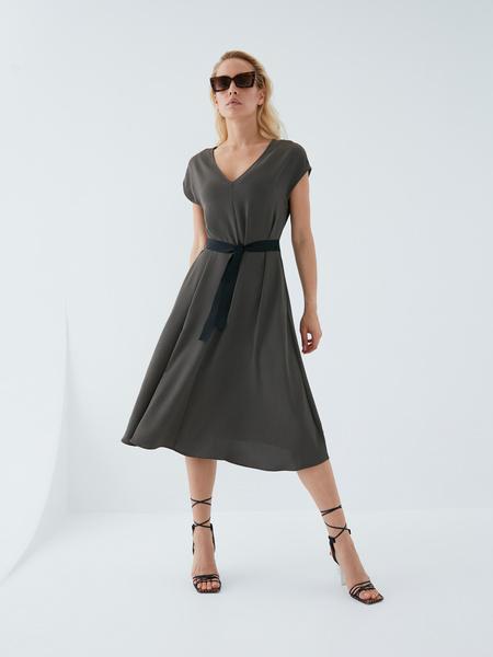 Платье с поясом - фото 10