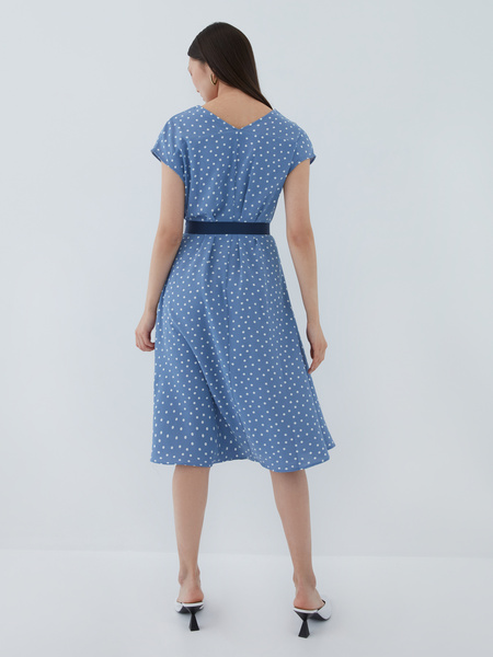 Платье с поясом - фото 12