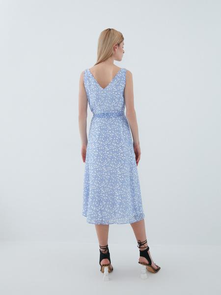 Платье с поясом - фото 9