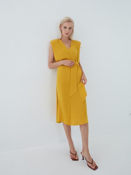 Платье с подплечниками - фото 1