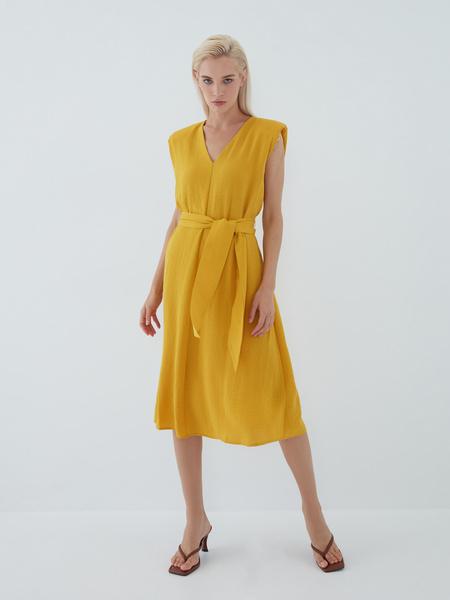 Платье с подплечниками - фото 13