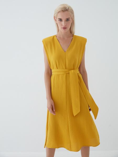 Платье с подплечниками - фото 8