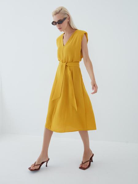 Платье с подплечниками - фото 12