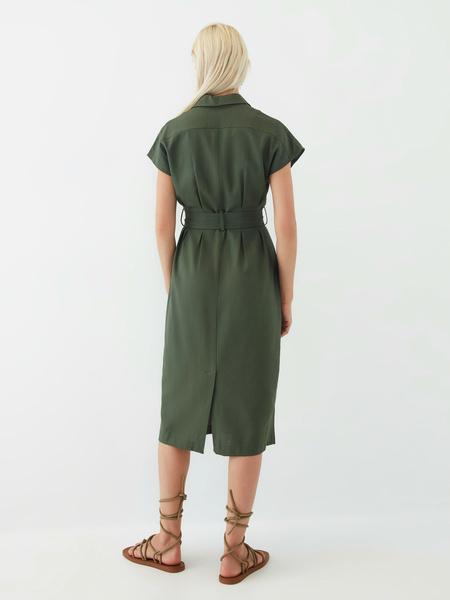 Платье изо льна - фото 12