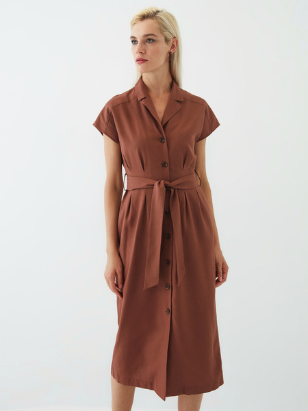 Платье изо льна - фото 11